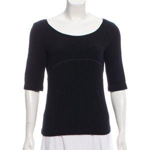 MIU MIU Wool Short-Sleeve Top